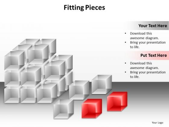 Ppt Connecting Dots Fitting Puzzle Pieces PowerPoint Template Together Templates