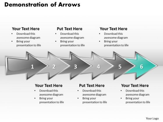 Ppt Consecutive Demonstration Of Arrows Six Create PowerPoint Macro Templates