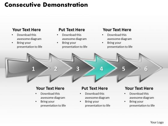 Ppt Consecutive Demonstration Of Six Steps PowerPoint Templates