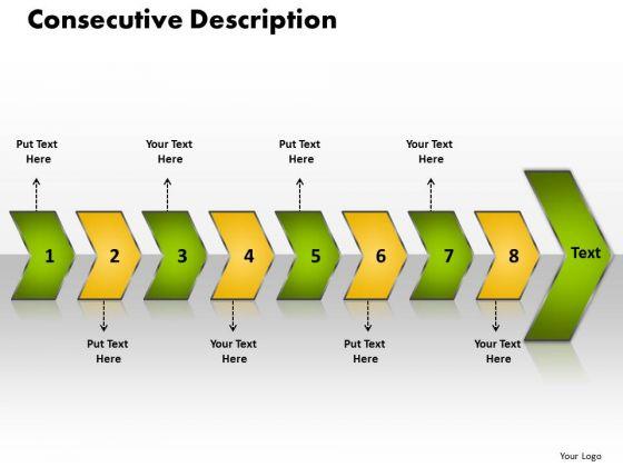 Ppt Consecutive Description Of 8 3d Arrows PowerPoint Templates