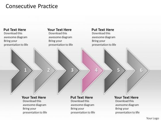 Ppt Consecutive Practice Of 6 Concepts Through Circular Arrows PowerPoint 2010 Templates