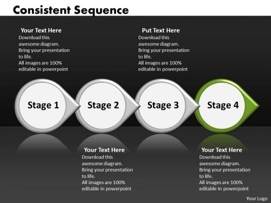 Ppt Consistent Sequence Of Four Power Point Stage Involved Procedure PowerPoint Templates