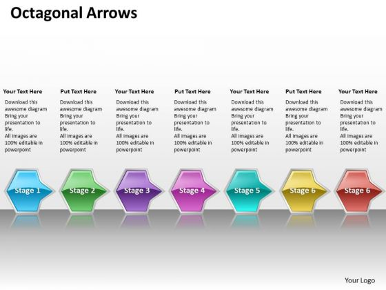 Ppt Continual Flow Of Octagonal Curved Arrows PowerPoint 2010 7 Stages Templates