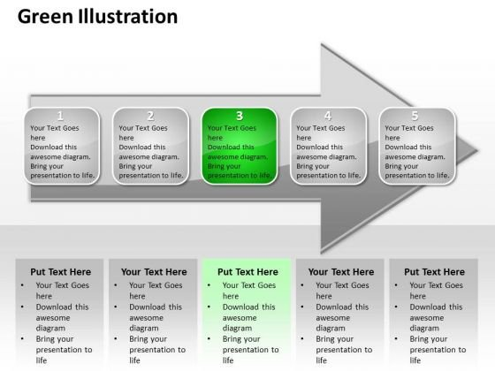 Ppt Continual Illustration Of Green Approach An Arrow PowerPoint Templates
