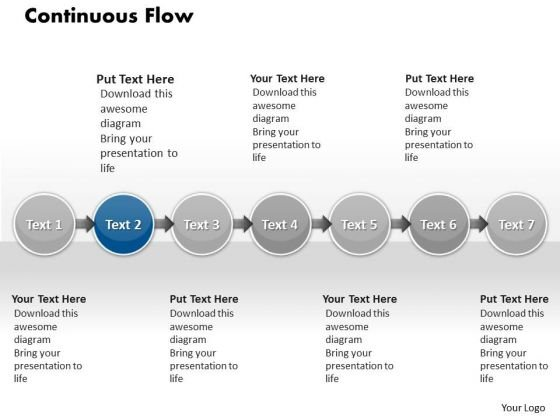 Ppt Continuous Busines Demo Create Flow Chart PowerPoint Of 7 Steps Templates