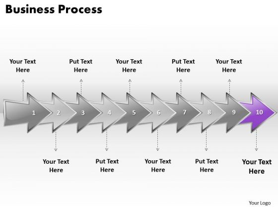Ppt Continuous Business PowerPoint Slide Text Download Process Using 10 Stages1 Templates