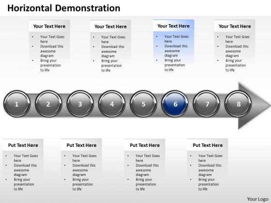 Ppt Continuous Demonstration Of Marketing Process Using 8 Stages 6 PowerPoint Templates