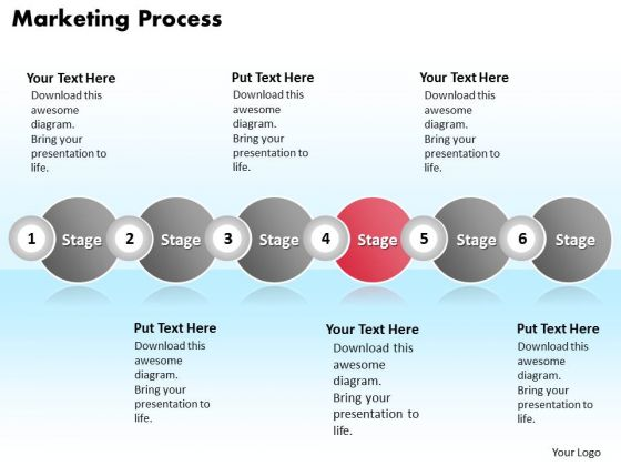 Ppt Continuous Example Of Marketing Process Using 6 Stages PowerPoint Templates