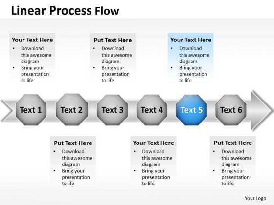 Ppt Continuous Flow PowerPoint Theme Actions Process Templates