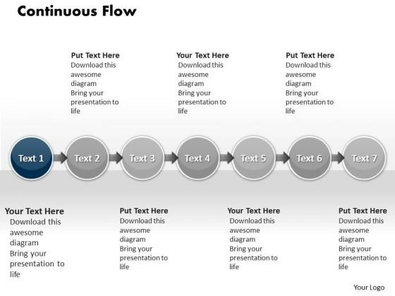 Ppt Continuous Flow PowerPoint Theme Of 7 Practice Macro Steps Templates