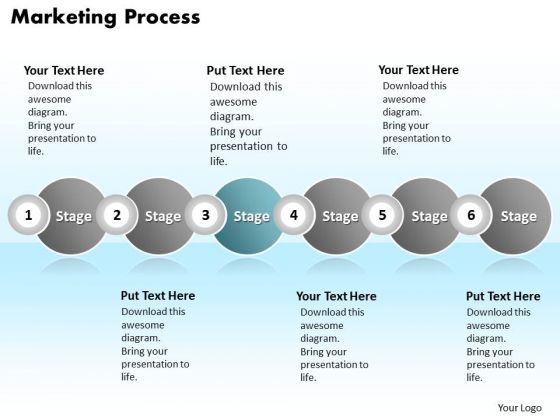 Ppt Continuous Illustration Of Business Planning Using 6 Stages PowerPoint Templates