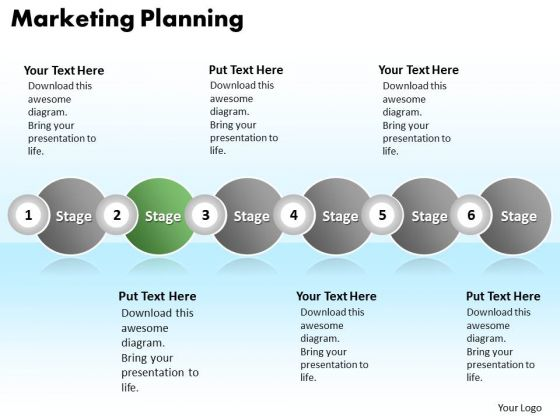 Ppt Continuous Illustration Of Marketing Planning Using 6 Power Point Stage PowerPoint Templates