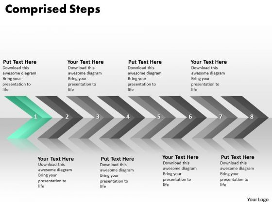Ppt Continuous Implementation Of 8 Steps Comprised Process PowerPoint Templates