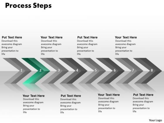 Ppt Continuous Implementation Of 8 Steps Containted Process PowerPoint Templates