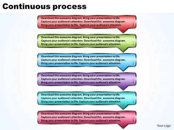 Ppt Continuous Process Using 6 Rectangular Arrows Layouts PowerPoint 2003 Templates