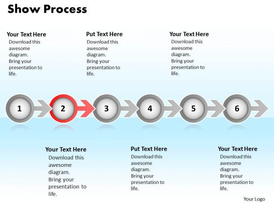 Ppt Continuous Way To Show Six Create PowerPoint Macro Business Process Templates