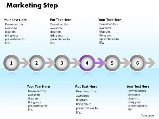 Ppt Continuous Way To Show Six Create PowerPoint Macro Marketing Process Templates