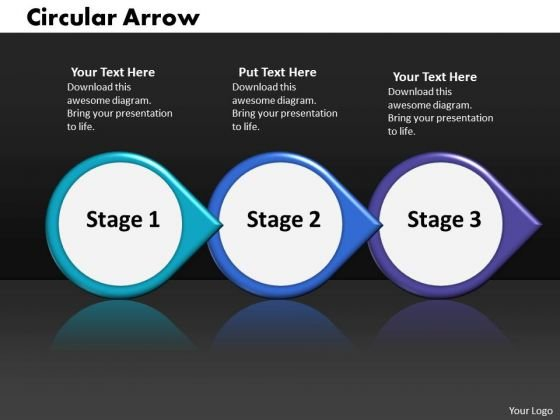 Ppt Continuous Work Flow Chart PowerPoint Of 3 Stages Circular Arrow Templates