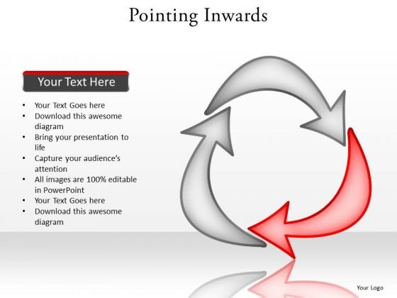 Ppt Curved PowerPoint Graphics Arrows Stage 2 Forming Triangle Templates