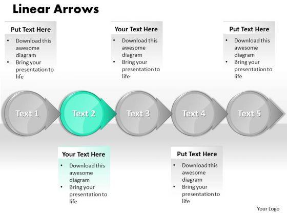 Ppt Cyan Circular Arrow Business PowerPoint Slide Text Download Process Chart Templates