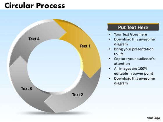 Ppt Cycle Process Cause And Effect Diagram PowerPoint Template 4 Stages Templates