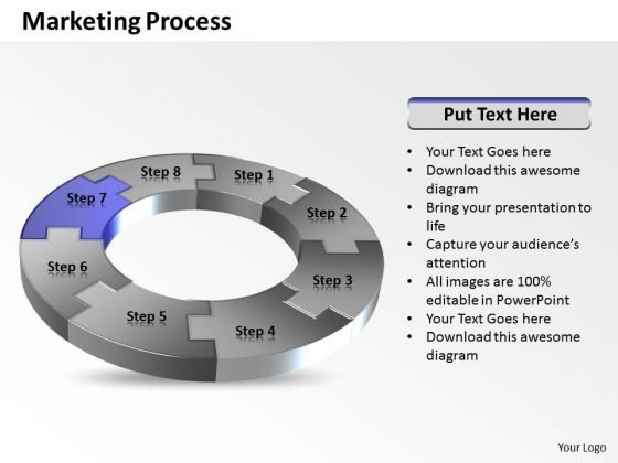 Ppt Definite Eight Steps Of Social Media Free PowerPoint Templates Process