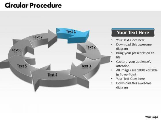 Ppt Demonstartion Of Circular Motion PowerPoint Procedure 7 State Diagram Templates