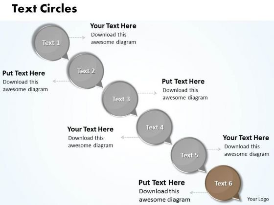 Ppt Descending Text Circles 6 Practice The PowerPoint Macro Steps Templates