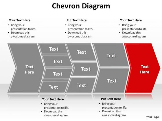 Ppt Describing Red Component Using Chevron Diagram Presentation PowerPoint Templates
