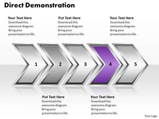 Ppt Direct Demonstration Of Process Using Arrows Download PowerPoint Layouts Templates