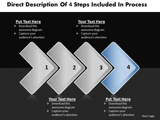 Ppt Direct Description Of 4 Steps Included Process Business PowerPoint Templates
