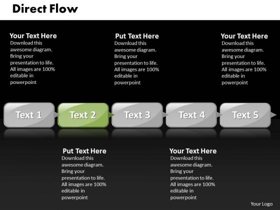 Ppt Direct Flow Of 5 Steps Involved Business PowerPoint Presentations Templates