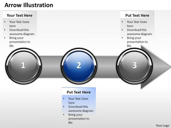 Ppt Direct Illustration Of Banking Process Using Stage 2 PowerPoint Templates