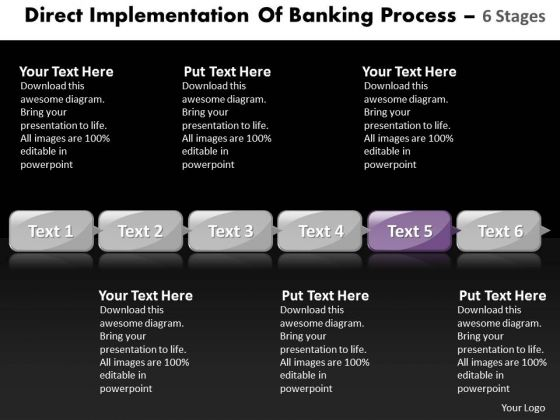 Ppt Direct Implementation Of Banking Process Using 6 Stages Business PowerPoint Templates