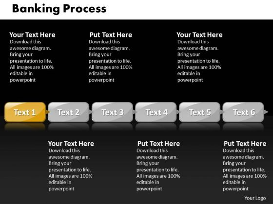 Ppt Direct Implementation Of Banking Process Using 6 Steps PowerPoint Templates