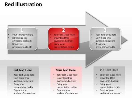 Ppt Direct Representation Of 3 Issues An Arrow Red Layouts PowerPoint Free Templates