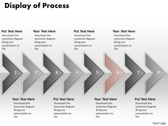 Ppt Display Of Marketing Process Using 8 Power Point Stage PowerPoint Templates