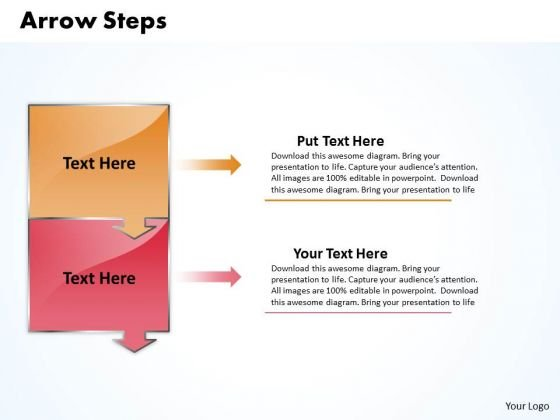 Ppt Downward Explanation Of 2 Stages PowerPoint Templates