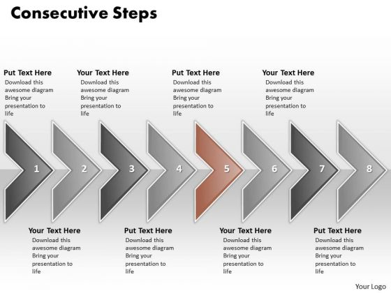 Ppt Eight Consecutive Practice The PowerPoint Macro Steps Of Marketing Process Templates