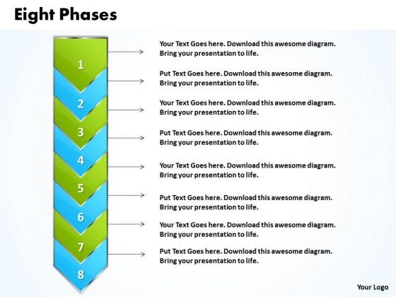 Ppt Eight Phase Diagram Demonstrated Arrow PowerPoint Templates