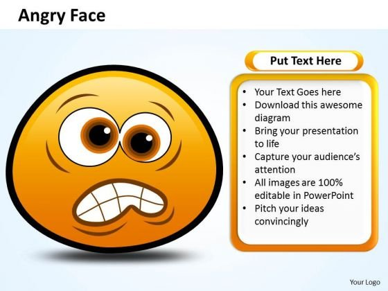 Ppt Emoticon Showing Angry Face Business Plan PowerPoint Templates