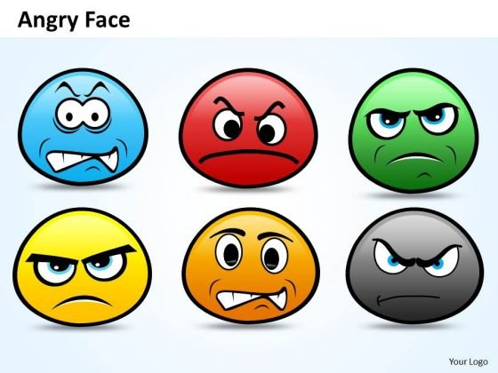 Ppt Emoticon Showing Angry Face PowerPoint Templates