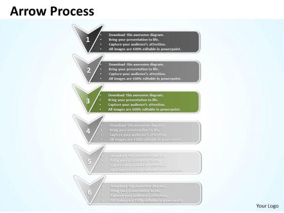 Ppt Erectile Representation Using 3d Arrows PowerPoint Templates
