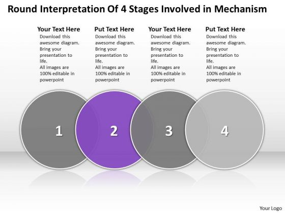 Ppt Evaluation Of 4 Stages Involved Mechanism PowerPoint Templates