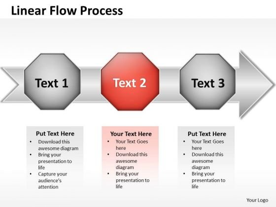 Ppt Even Flow Process Steps Working With Slide Numbers PowerPoint Templates