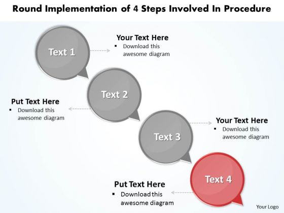 Ppt Execution Of 4 Practice The PowerPoint Macro Steps Involved Procedure Templates