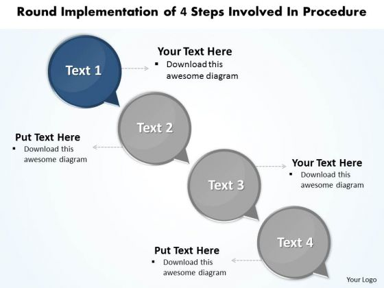 Ppt Exercise Of 4 Steps Involved Procedure PowerPoint Templates