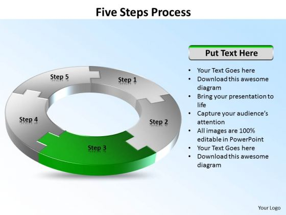 Ppt Five Stages Circular Writing Process PowerPoint Presentation Templates