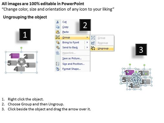 ppt_five_text_align_boxes_powerpoint_2010_connected_with_circle_templates_2
