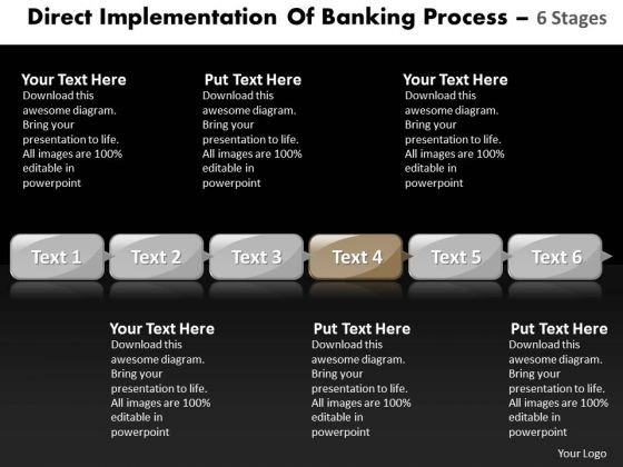 Ppt Flow Of Banking Process Using 6 Power Point Stage Business PowerPoint Templates